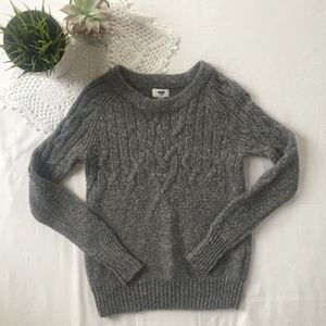 Old Navy Grey Knit Crewneck Sweater